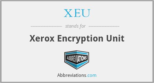 XEU - Xerox Encryption Unit