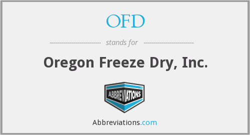 OFD - Oregon Freeze Dry, Inc.