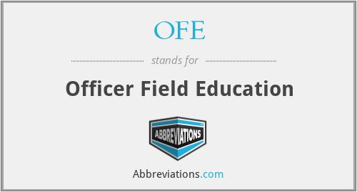 OFE - Officer Field Education