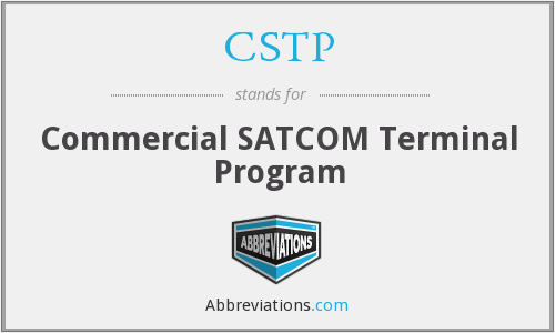 CSTP - Commercial SATCOM Terminal Program