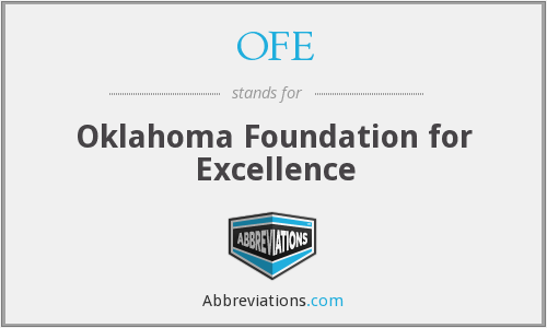 OFE - Oklahoma Foundation for Excellence