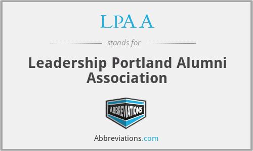 LPAA - Leadership Portland Alumni Association