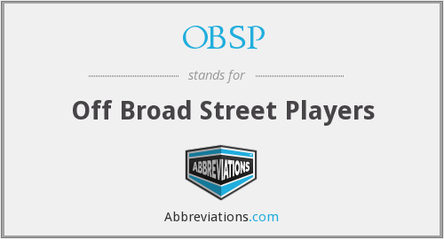 What does OBSP stand for?