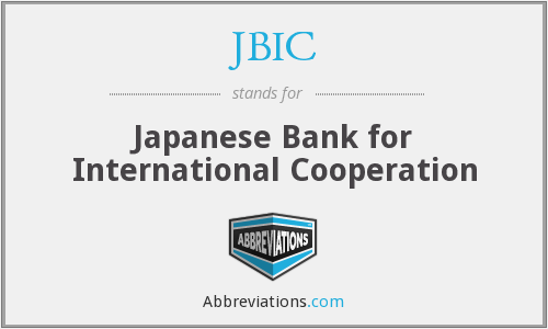 What does JBIC stand for?