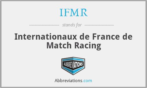IFMR - Internationaux de France de Match Racing