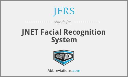 JFRS - JNET Facial Recognition System