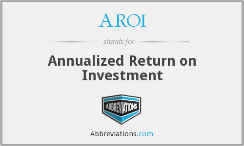 AROI - Annualized Return on Investment