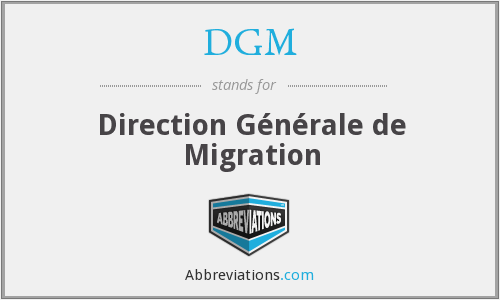 What does DGM stand for?