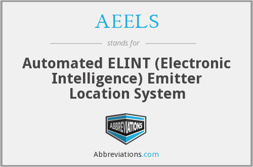 AEELS - Automated ELINT (Electronic Intelligence) Emitter Location System