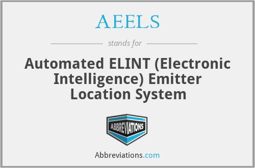 AEELS - Automated ELINT (Electronic Intelligence) Emitter Location System