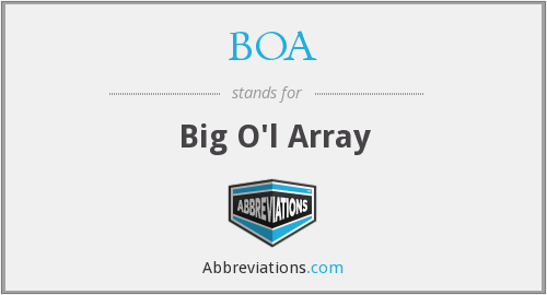 BOA - Big O'l Array