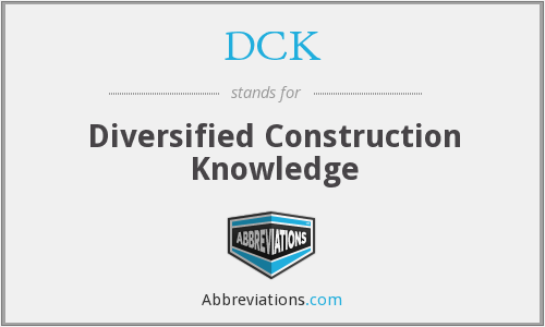 DCK - Diversified Construction Knowledge