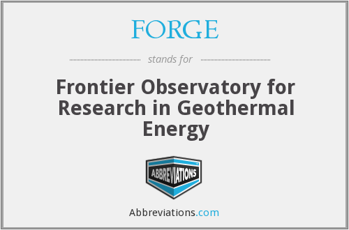 FORGE - Frontier Observatory for Research in Geothermal Energy