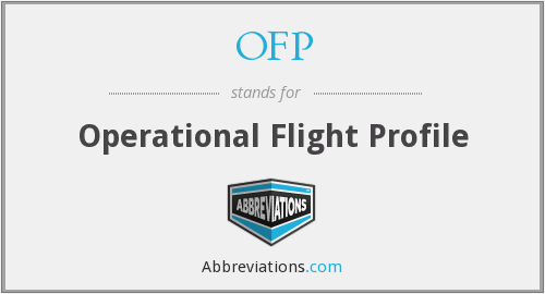 OFP - Operational Flight Profile