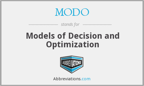 What does MODO stand for?