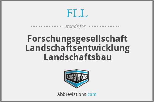 FLL - Forschungsgesellschaft Landschaftsentwicklung Landschaftsbau