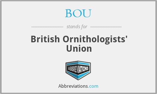 BOU - British Ornithologists' Union