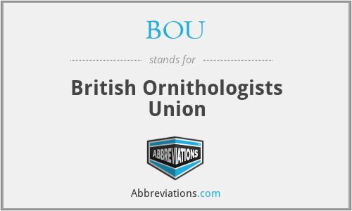 BOU - British Ornithologists Union