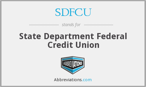 What does SDFCU stand for?