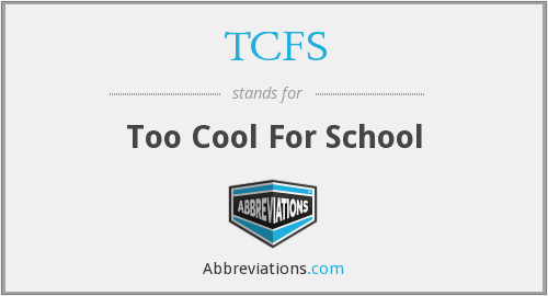 What does TCFS stand for?