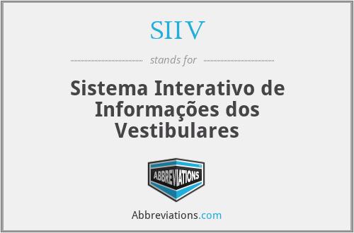 SIIV - Sistema Interativo de Informações dos Vestibulares