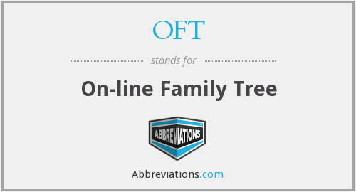 OFT - On-line Family Tree