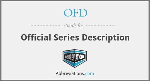 OFD - Official Series Description