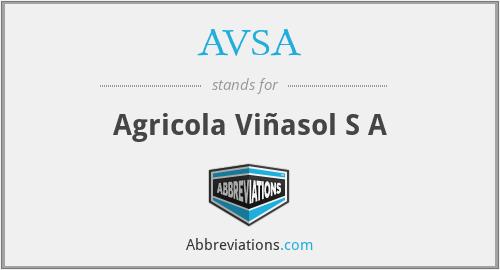 AVSA - Agricola Viñasol S A