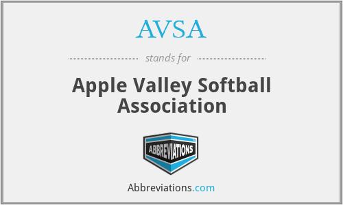 AVSA - Apple Valley Softball Association
