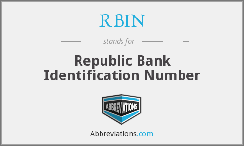 What does RBIN stand for?