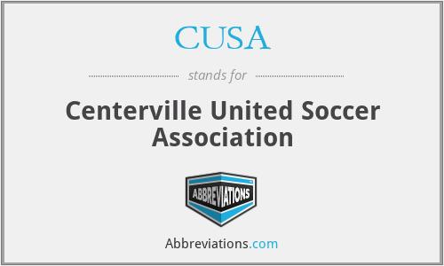 CUSA - Centerville United Soccer Association