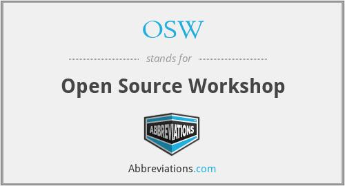 OSW - Open Source Workshop