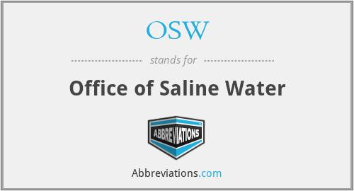 OSW - Office of Saline Water