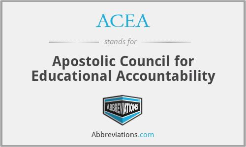 ACEA - Apostolic Council for Educational Accountability