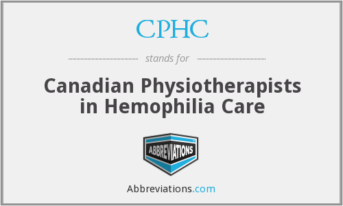CPHC - Canadian Physiotherapists in Hemophilia Care