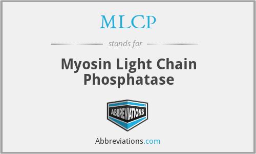 MLCP - Myosin Light Chain Phosphatase