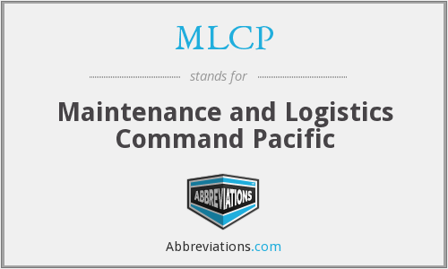 MLCP - Maintenance and Logistics Command Pacific