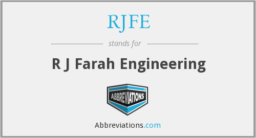 What does RJFE stand for?