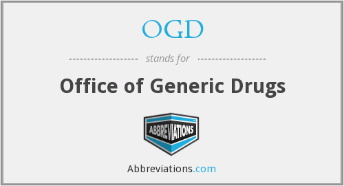 OGD - Office of Generic Drugs