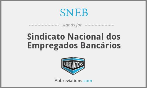 SNEB - Sindicato Nacional dos Empregados Bancários