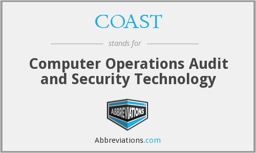 COAST - Computer Operations Audit and Security Technology