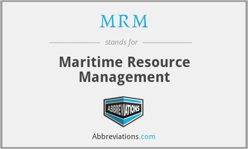 MRM - Maritime Resource Management