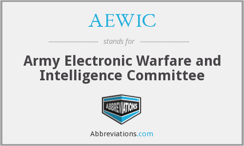 AEWIC - Army EW and Intelligence Committee