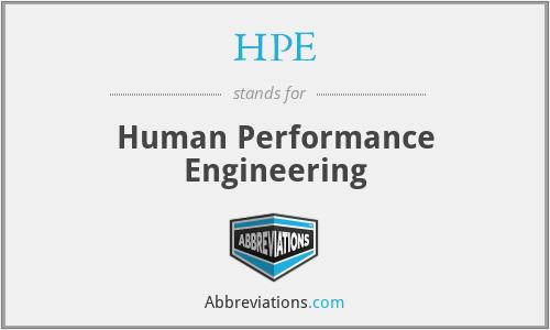 HPE - Human Performance Engineering