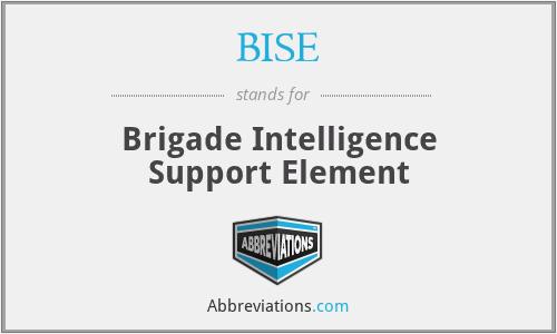 BISE - Brigade Intelligence Support Element