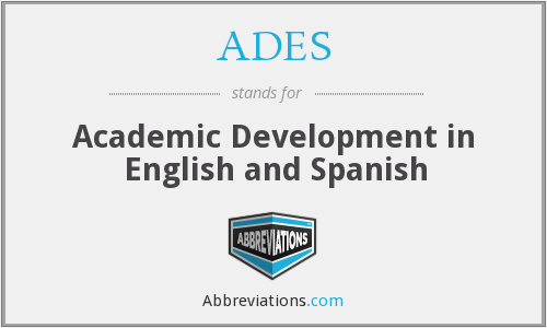 ADES - Academic Development in English and Spanish