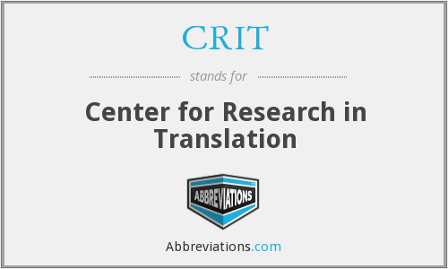 CRIT - Center for Research in Translation
