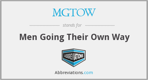 What does MGTOW stand for?