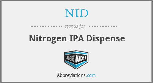 NID - Nitrogen IPA Dispense
