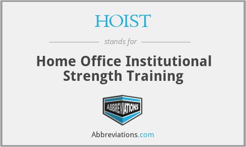 HOIST - Home Office Institutional Strength Training